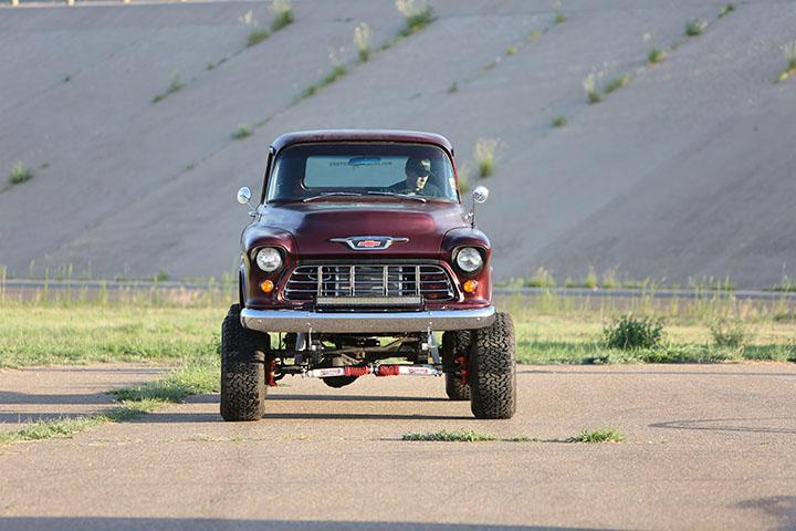Molecular Motors 55 chevy truck restomod 4x4